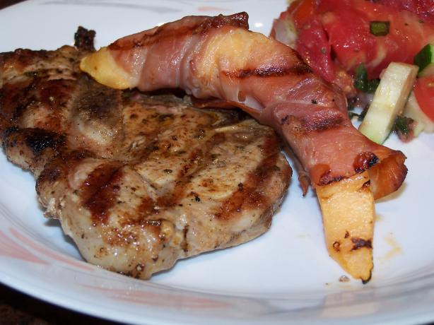 Grilled Prosciutto-Wrapped Cantaloupe