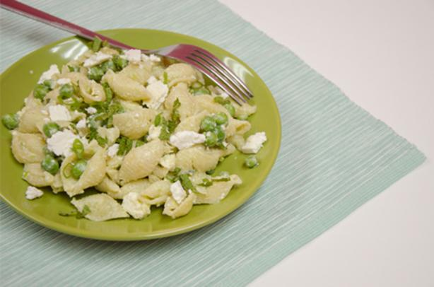 Pasta Salad With Kefir, Peas and Cheese