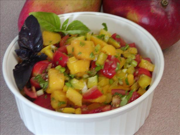 Fast Tropical Mango Salsa