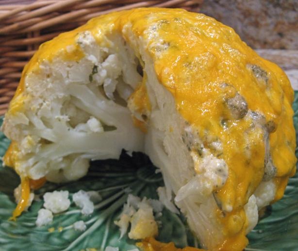 Cauliflower With Lemon Mayonnaise-Cheddar Crust