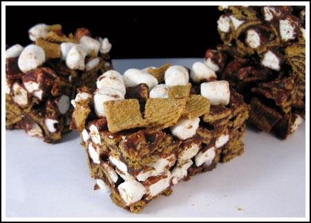 Golden Graham Cereal S'mores Squares