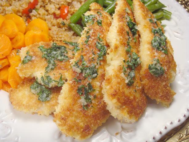 Parmesan Chicken With Garlic Butter