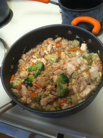 chicken stir fry w/ frozen mixed vegetables
