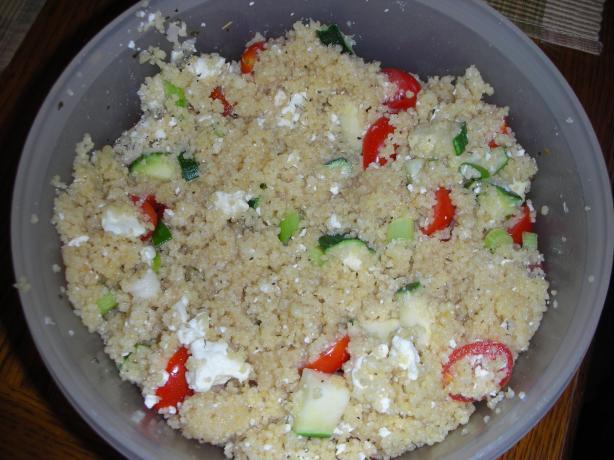 Zesty Greek Couscous Salad