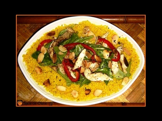 Grilled Spiced-Chicken on Golden Couscous