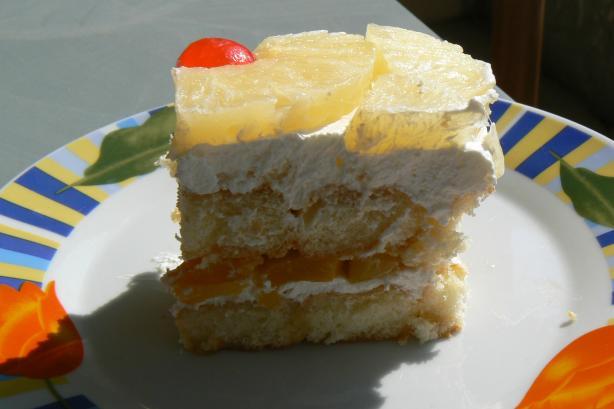 Pineapple-Yoghurt Ladyfinger Dessert