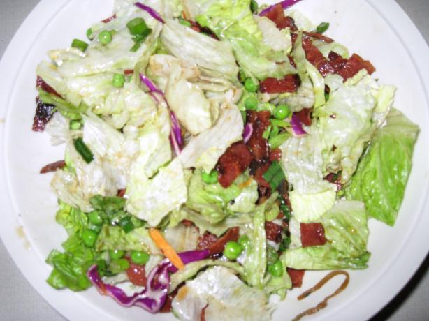 Greens With Warm Turkey Bacon Dressing (Ww)