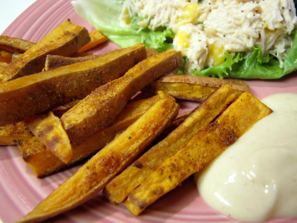 Kumara (Sweet Potato) Wedges With Mustard and Lime Yogurt