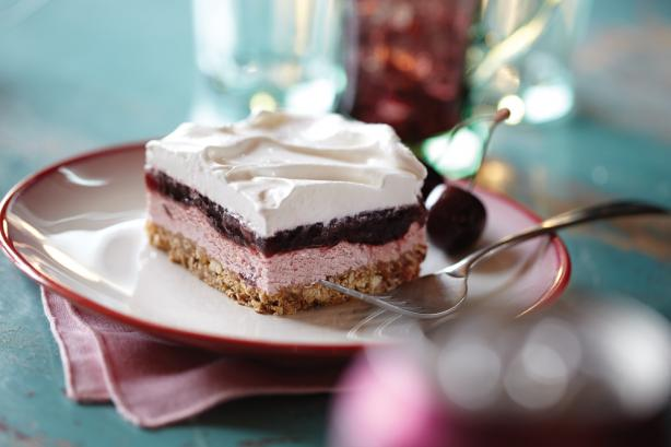 Black Cherry Layered Pretzel Dessert