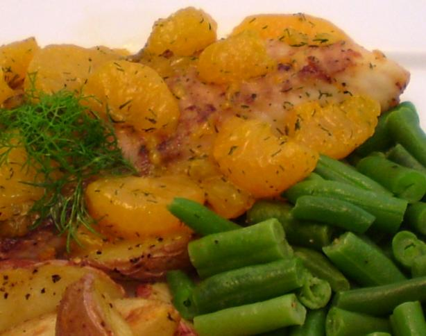 Fish With Mandarin and Dill Sauce
