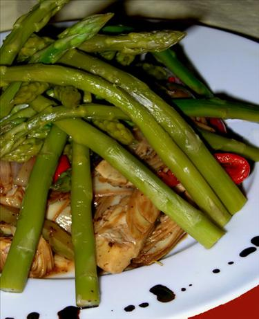 Balsamic Asparagus and Artichokes
