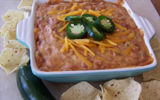 Hot Cheddar Bean Dip