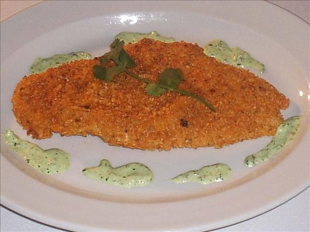 Amazon Fried Chicken Breasts With Cilantro Sauce