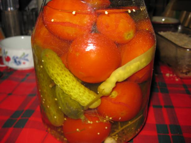 Russian Tomatoes and Gherkins