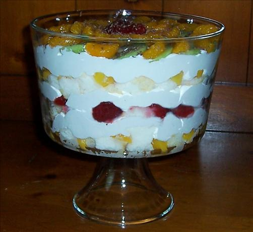 Yummy Peach/Strawberry/Kiwi Trifle