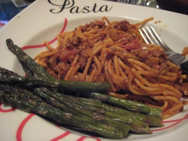 Vegan Creamy Spaghetti Bolognese