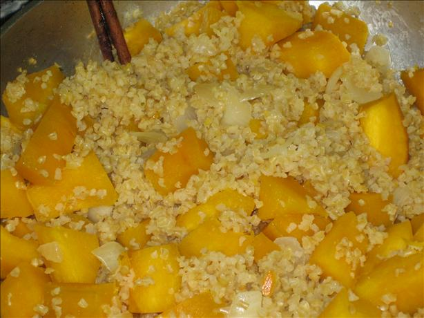 Bulgur Risotto With Pumpkin