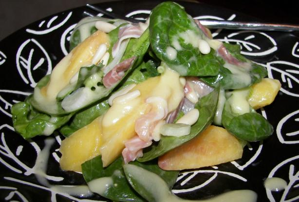 Italian Peach Salad