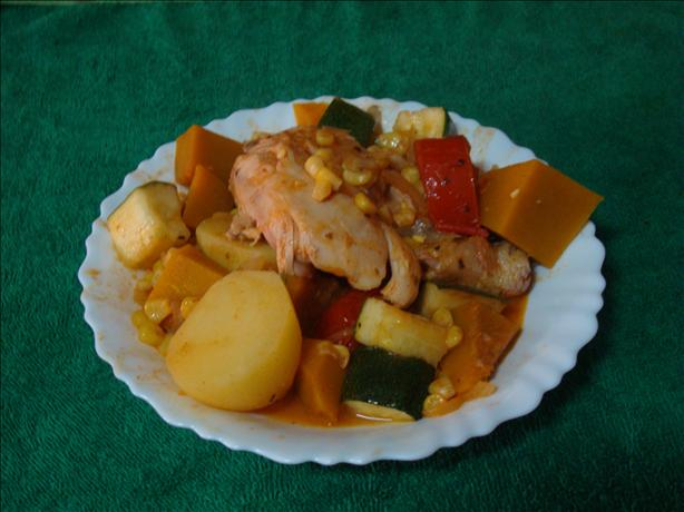 Chicken, Pumpkin and Sweetcorn Stew