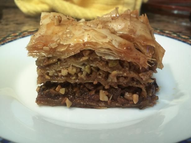 Baklava - Orange/Pomegranate Honey Syrup