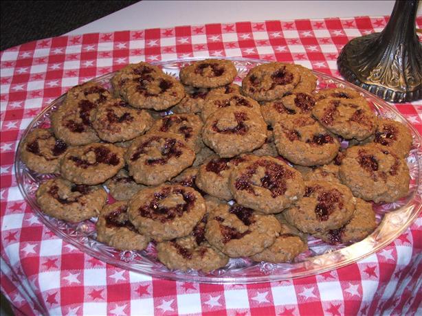 Raspberry Almond Oatmeal Cookies