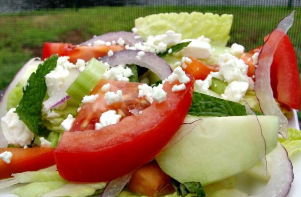 Garden Salad - Mediterranean Style