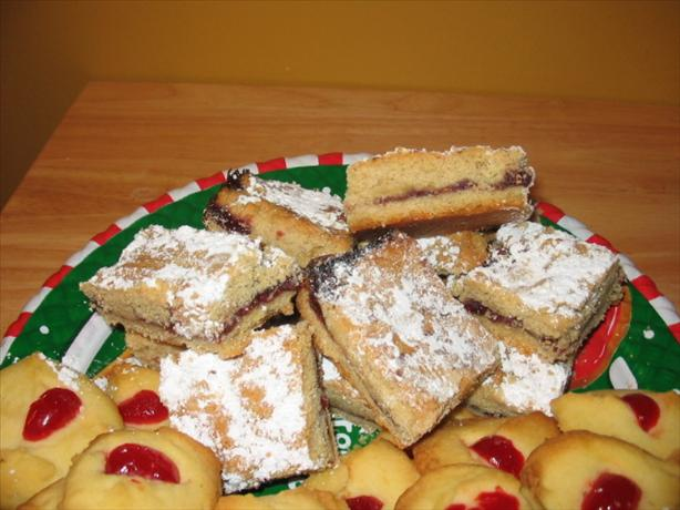 Yuletide Linzer Bars