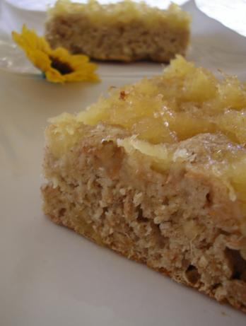Healthier Right Side Pineapple Cake