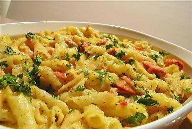 Lite Salmon & Pasta Casserole