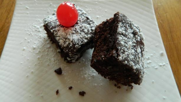 Skinny Gooey Cherry Brownies