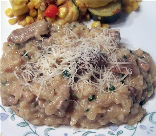 Garlicky Pork and Mushroom Risotto