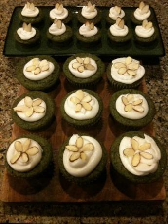 Green Tea Almond Cupcakes