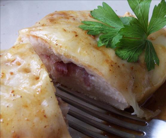 Chicken Scaloppine With Prosciutto, Mozzarella and Marsala