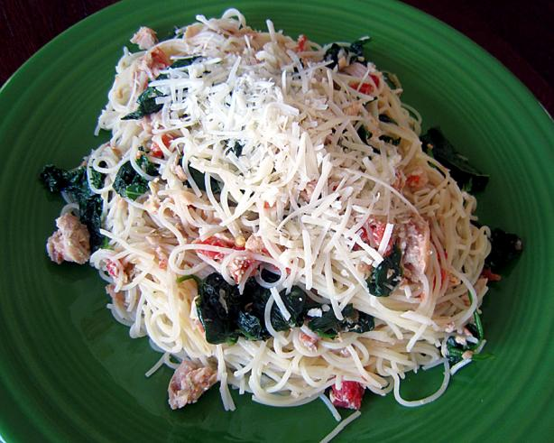 Simple Light Swiss Chard and Spaghetti