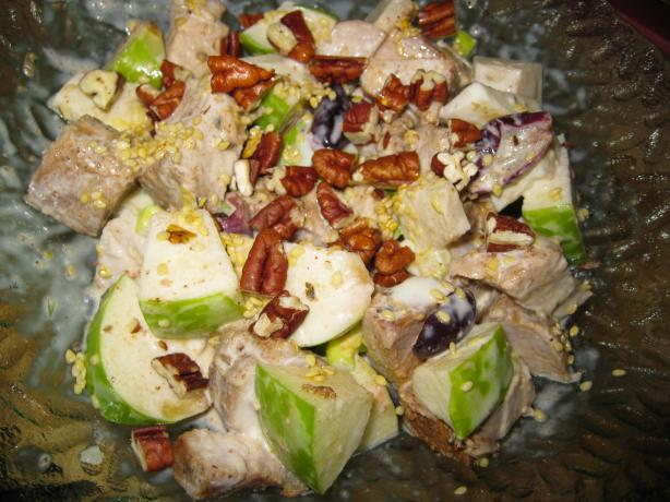 Chicken Salad With Fruit and Toasted Pecans