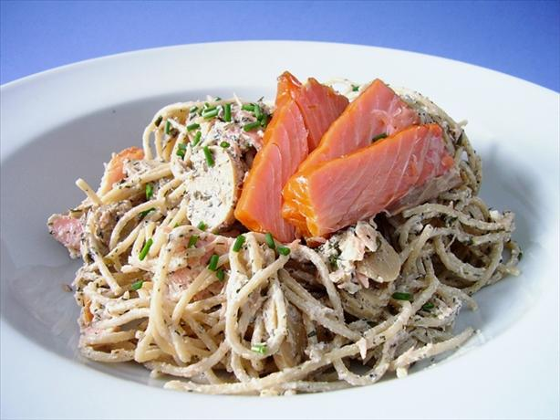 Spaghetti with Smoked Salmon