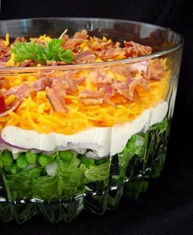 Yummy 7 Layer Salad