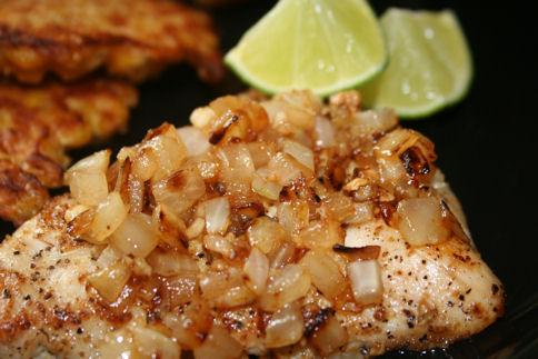 Lime-Drenched Chicken With Onions