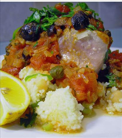 Fresh Tuna Steaks on a Bed of Couscous
