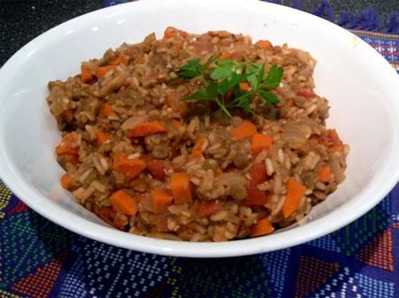 Indian Lentil Pilaf