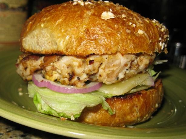 Grilled Italian Pork Burger