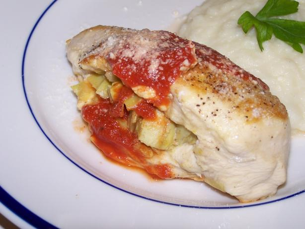 Parmesan Artichoke Stuffed Chicken Breasts