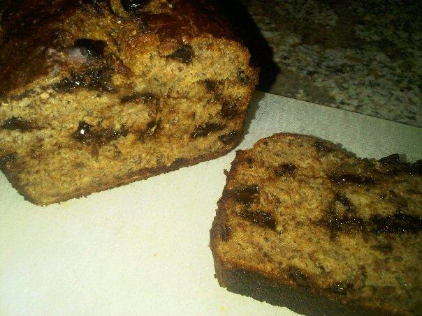 Banana Flax Chocolate Chip Loaf