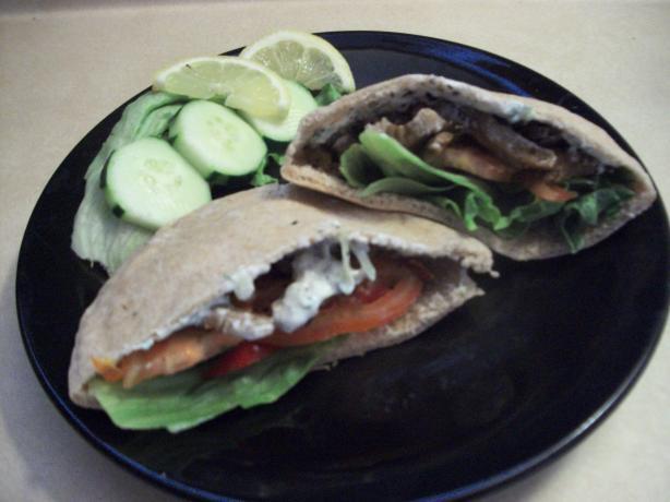 Vegan Seitan Gyro W/ Cucumber Sauce