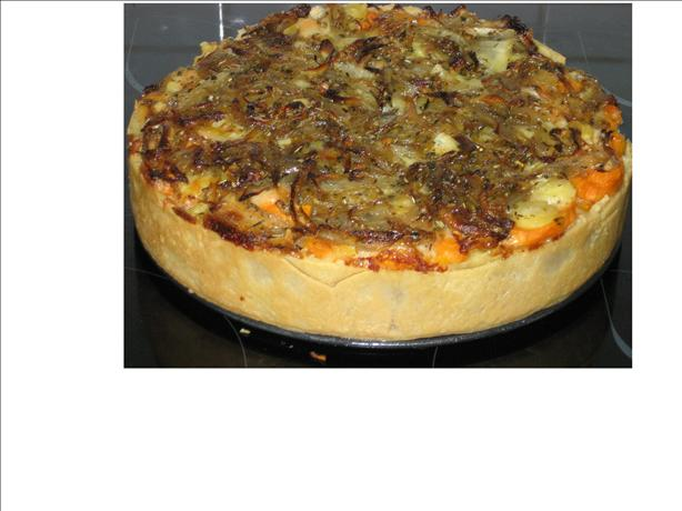 Caramelized Onion and Sweet Potato Tart