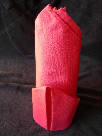 Serviette/Napkin Folding, Simple Standing