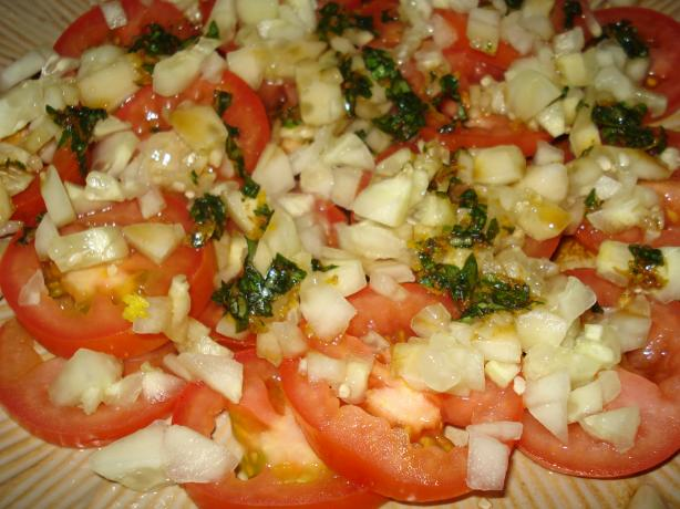 Tomato - Cucumber Salad With Fresh Basil