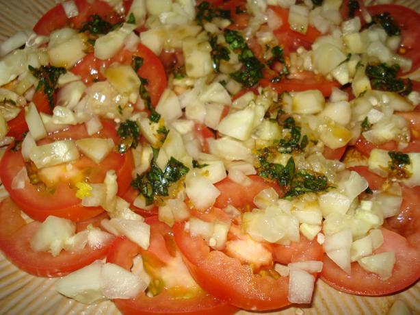 Tomato - Cucumber Salad With Fresh Basil