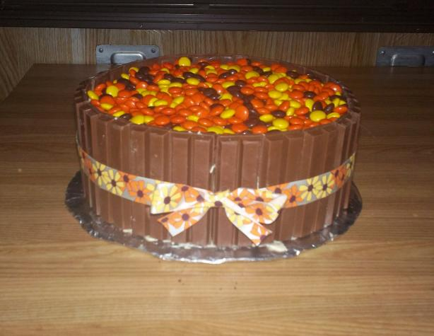 Autumn Kit Kat Layer Cake (W/ Reeses Pieces)