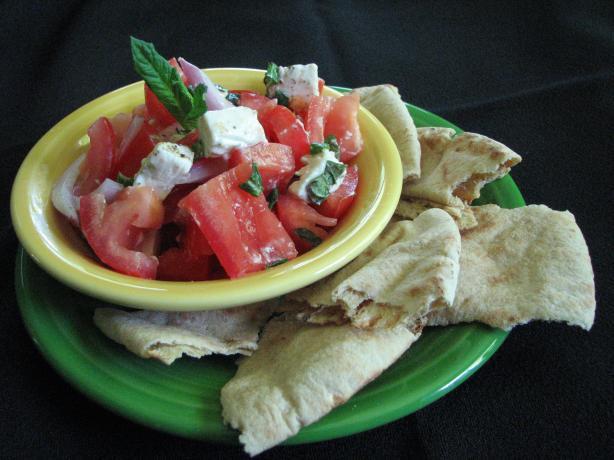 Grilled Pita Salad